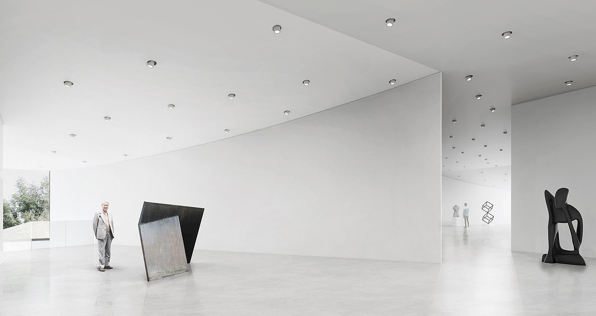 Top Floor Gallery Interior View